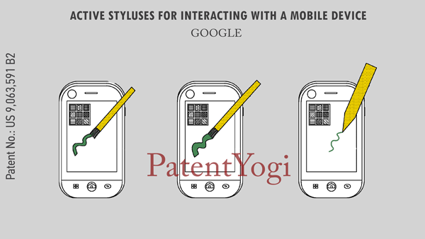 PatentYogi_9,063,591_Active-styluses-for-interacting-with-a-mobile-device