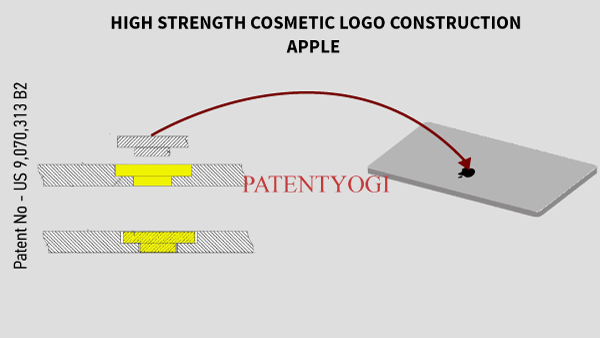 PatentYogi_US 9070313 B2 _HIGH STRENGTH COSMETIC LOGO CONSTRUCTION
