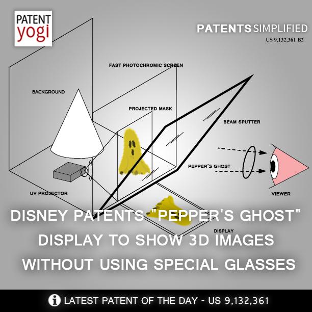 PatentYogi_Disney Pepper's Ghost Display