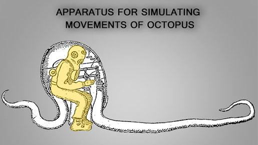 #CreepyIP No. 21 – Apparatus for simulating movements of Octopus