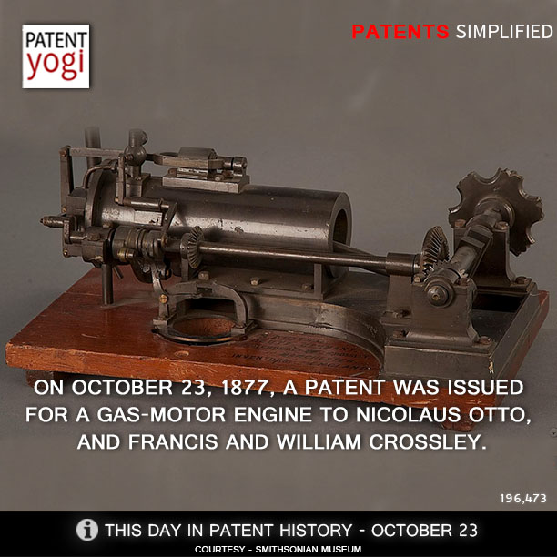 this day in patent history on october 23 1877 a patent. Black Bedroom Furniture Sets. Home Design Ideas