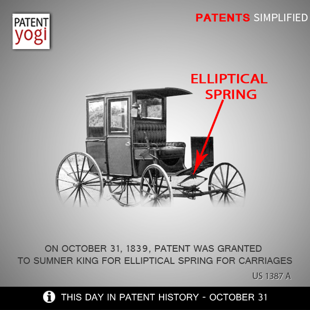 PatentYogi-On-October-31-1839-patent-was-granted-to-Sumner-King-for-Elliptical-spring-for-carriages
