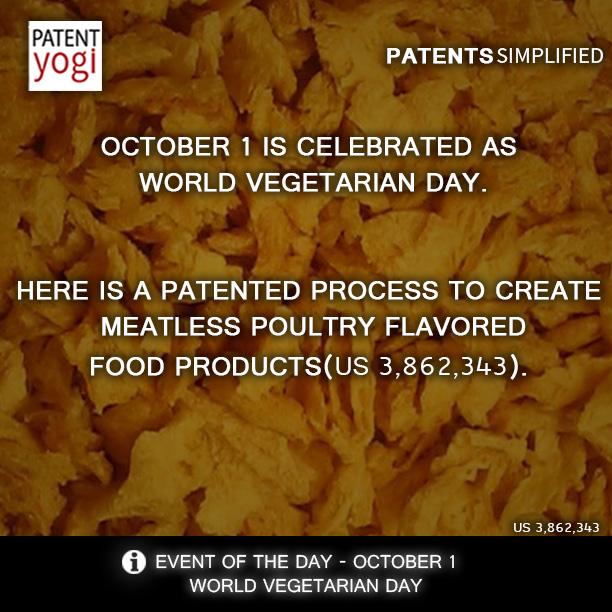 PatentYogi_World vegetarian day