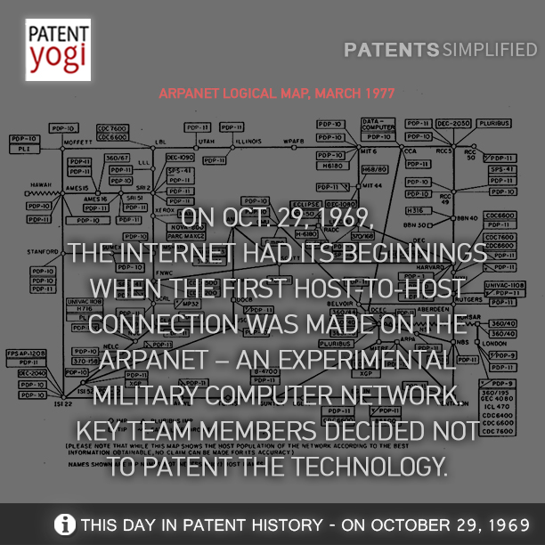 PatentYogi_the-Internet-had-its-beginnings-when-the-first-host-to-host-connection-was-made-on-the-Arpanet-–-an-experimental-military-computer-network