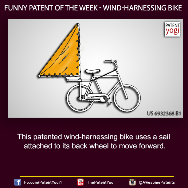 Funny Patent of the week - Wind-Harnessing Bike