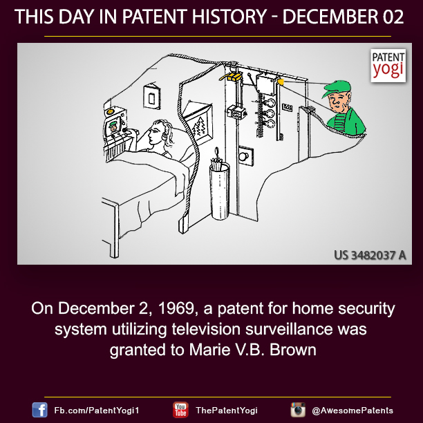 PatentYogi_On December 2, 1969, a patent for home security