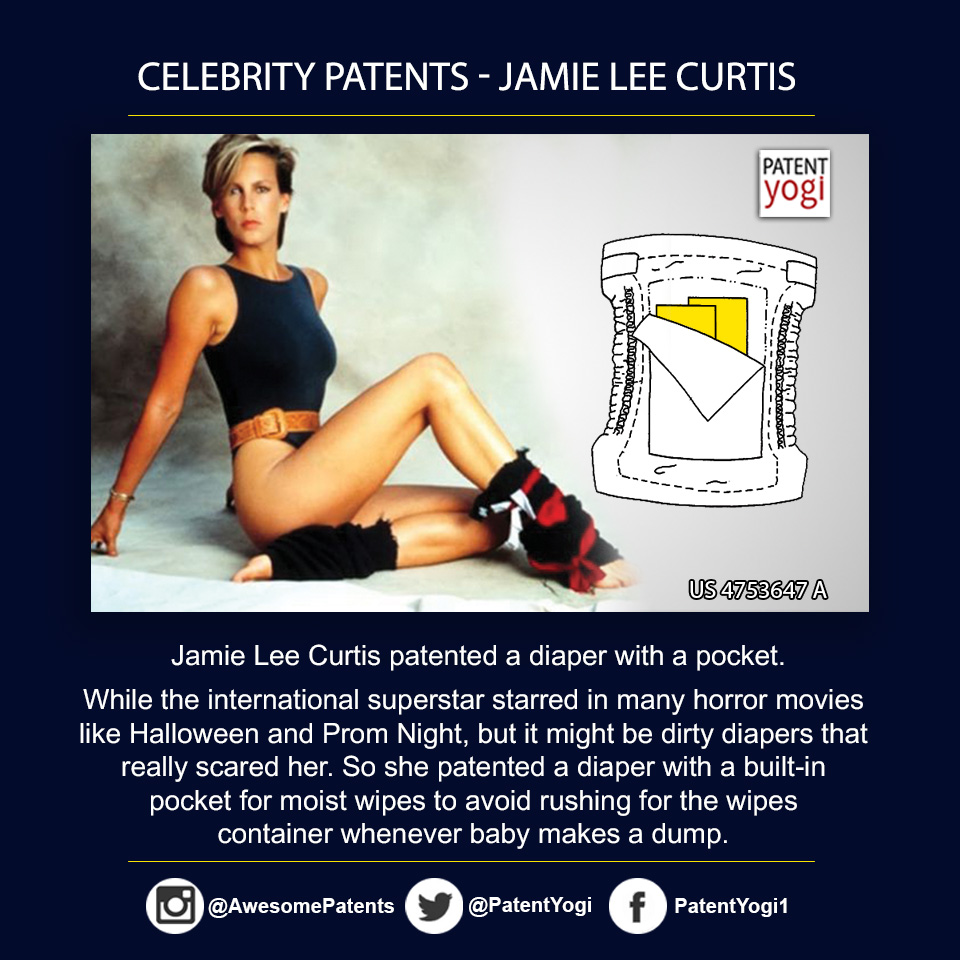 PatentYogi_Celebrity Patents - Jamie Lee Curtis