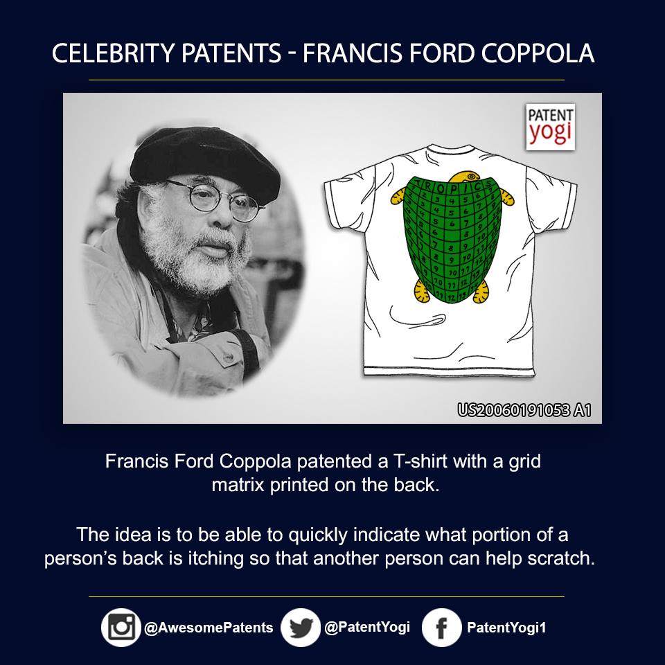 PatentYogi_Celebrity Patents_Francis Ford Coppola