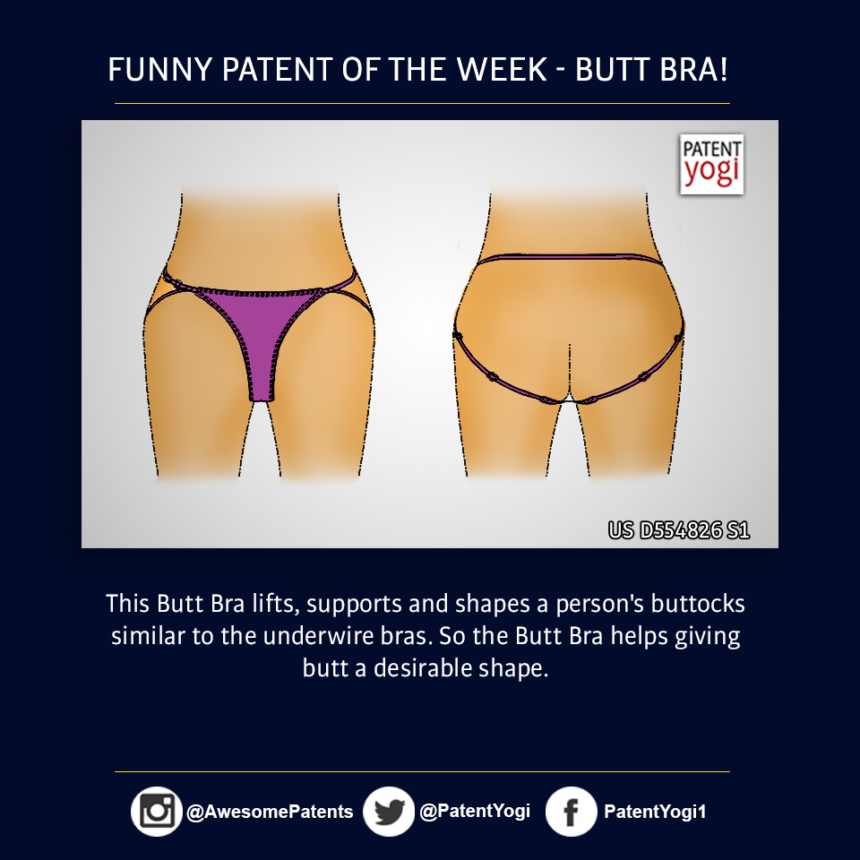 PatentYogi_Funny patent of the week-Butt Bra!