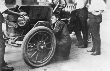 Charles F. Kettering with a Buick automobile, Dayton, Ohio, 1913; Courtesy - ohiohistorycentral.org