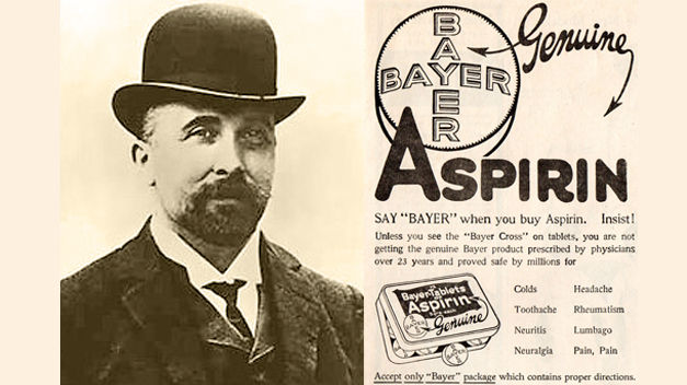 felix hoffmann and the discovery of aspirin Felix hoffmann was born on 21 january 1868 in ludwigsburg bayer denied this in a press release, asserting that the invention of aspirin was due to hoffmann.