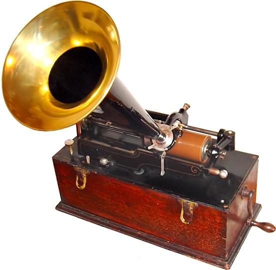 Edison cylinder phonograph, circa 1899