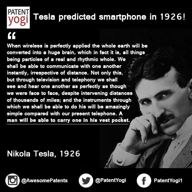 Nikola Tesla Quotes Patent Quote   Nikola Tesla   Patent Yogi LLC Nikola Tesla Quotes