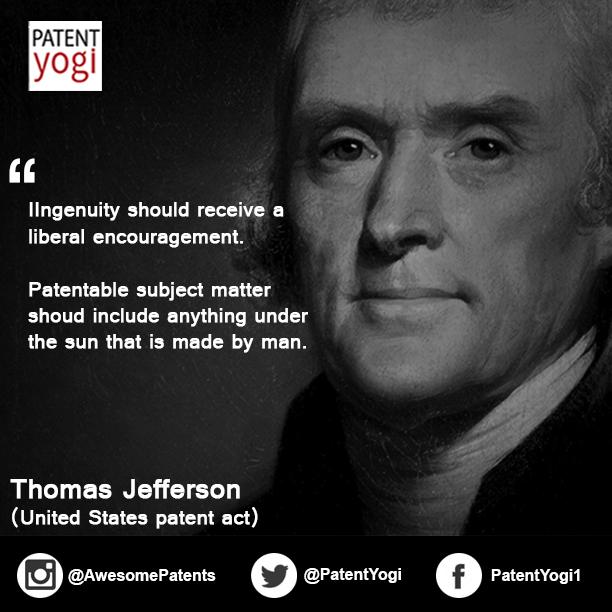 Thomas Jefferson Quotes | Patent Quote Thomas Jefferson Patent Yogi Llc