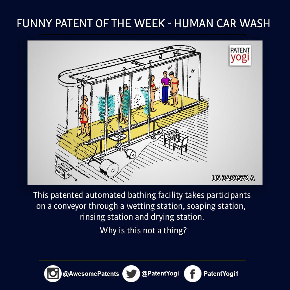 PatentYogi_funny patent of the week - Human Car Wash