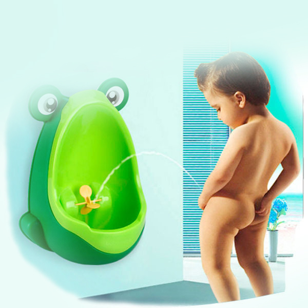 Toy pee urinal for boys, used to train them how to use urinals