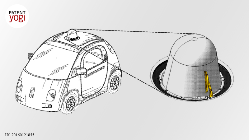 PatentYogi Google's self-driving car will self-clean itself