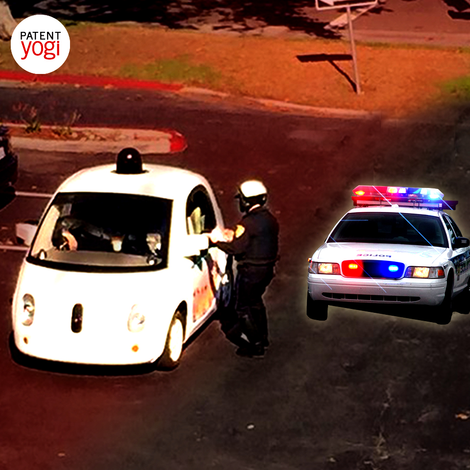 PatentYogi_Google's self-driving cars will detect police vehicles based on flashing lights2