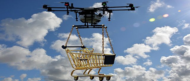 Noise abatement system for drones from amazon