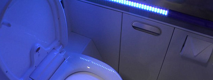 Boeing to finally to make Airplane toilets completely clean